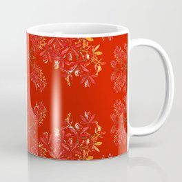 Orchids on Red Coffee Mug