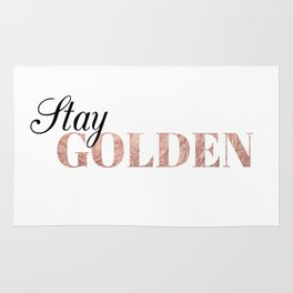 stay golden Rug