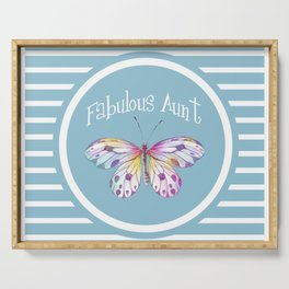 Fabulous Aunt Butterfly Gifts Serving Tray