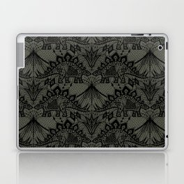 Stegosaurus Lace - Black / Grey Laptop & iPad Skin