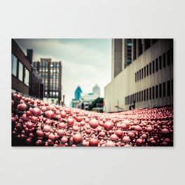 Pink In The Village Canvas Print