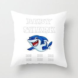 Baby Sea Fish - Shark Doo Doo Throw Pillow