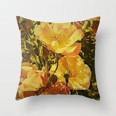 Vintage Climbing Roses Throw Pillow