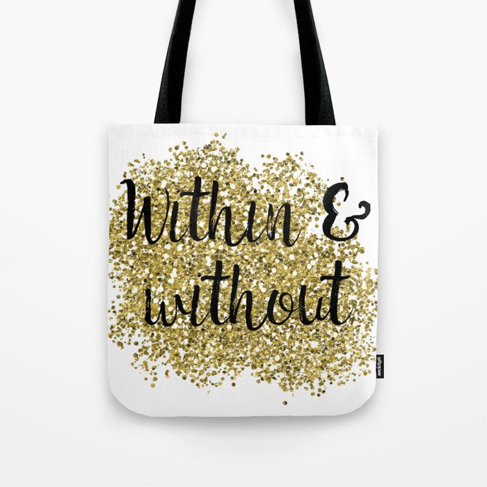 Within and without - golden jazz Tote Bag