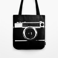 camera Tote Bags featuring Camera by Maressa Andrioli