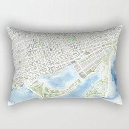 Toronto Canada Watercolor city map Rectangular Pillow