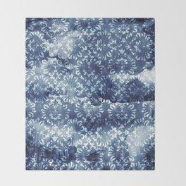 Indigo Batik Abstract Throw Blanket