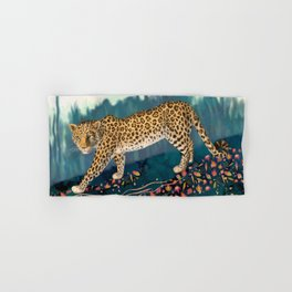 The Amur Leopard in the Woodlands Hand & Bath Towel