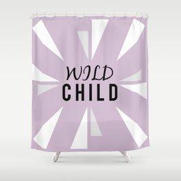 Wild Child - purple Shower Curtain