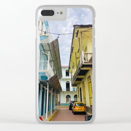 Colorful Casco Viejo- Panama Clear iPhone Case
