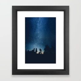 Follow the stars Framed Art Print