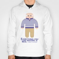 pablo picasso Hoodies featuring Pablo Picasso by Late Greats by Chen Reichert