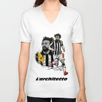 juventus V-neck T-shirts featuring L'architetto Di Torino by Akyanyme