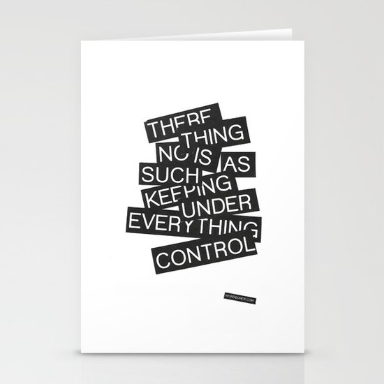 Under Control Stationery Cards
