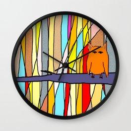 meditation animal Wall Clock