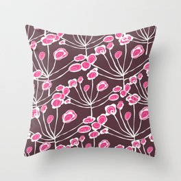 Floral Sprigs Throw Pillow