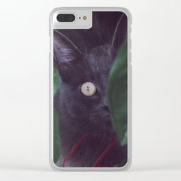 Beauty Cat Clear iPhone Case