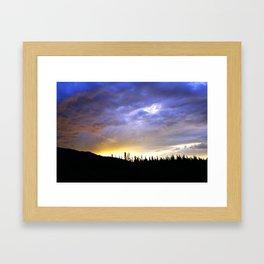 Heart of Light Above the Dark Mountain Framed Art Print