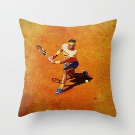 Rafael Nadal Sliced Backhand Throw Pillow