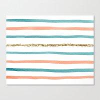 sparkle Canvas Prints featuring Sparkle Stripe by Social Proper