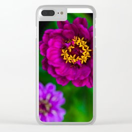 Purple Triplets Clear iPhone Case