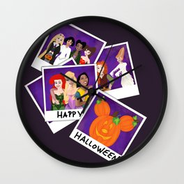 Princess Polaroid Halloween Wall Clock