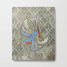 Sparrow tattoo Metal Print