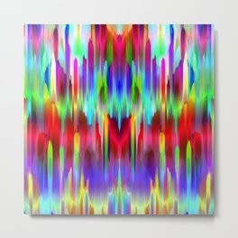 Colorful digital art splashing G487 Metal Print