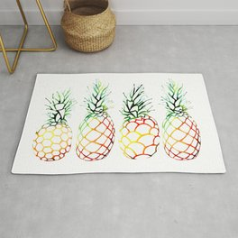 Retro Pineapples Rug
