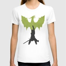 Dragon Age: Inquisition V2 White LARGE Womens Fitted Tee