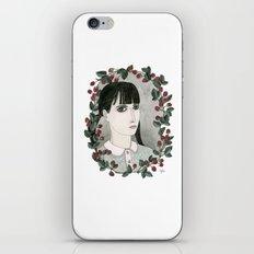 Raspberry Portrait iPhone Skin