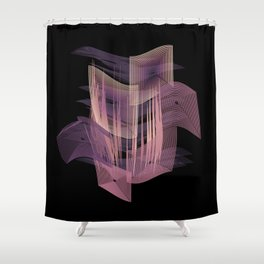 Pleased by Purple Shower Curtain