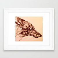 coyote Framed Art Prints featuring Coyote  by jacobketcham