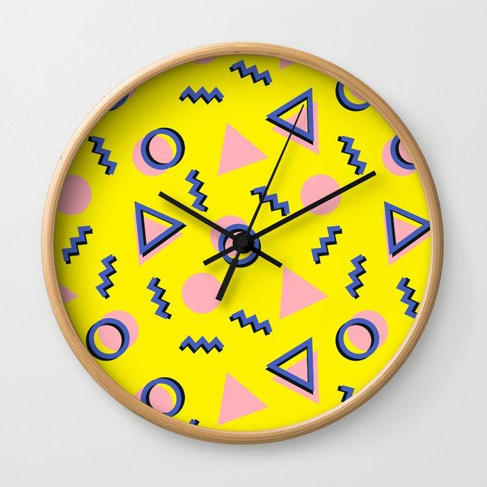 Memphis pattern 62 Wall Clock