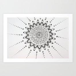 Круг линий Art Print