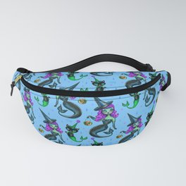 Mermaid Witch with Merkitten Fanny Pack