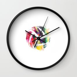 Volleyball Artwork | Team Sports Player Coach Gifts Wall Clock