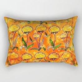 Dandelion Pop-Art by Nico Bielow Rectangular Pillow