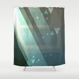 Dappled Dreams: Aqua Shower Curtain