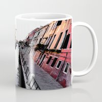 channel Mugs featuring Venice Channel by Karina Faiani