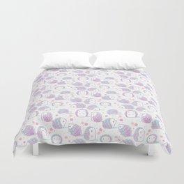 Spring Hedgehog Pattern Duvet Cover