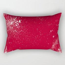red dark raspberry white splat splatter splash colour palette Rectangular Pillow