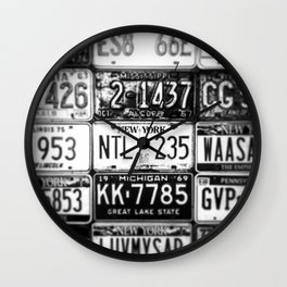 Places Plates Wall Clock
