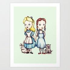 Alice & Dorothy Art Print
