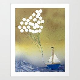 Sail away Art Print