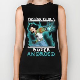 Training to be a super android - 17 Biker Tank
