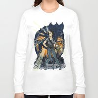 aliens Long Sleeve T-shirts featuring Aliens by Ginger Breo