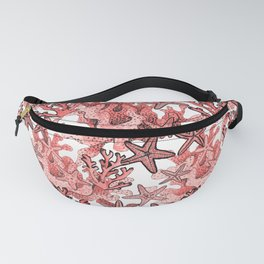 Living Coral and starfish, Coral reef Fanny Pack