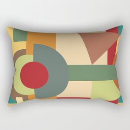 Abstract geometric composition study- Picture Frame Rectangular Pillow