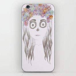 festival skull iPhone Skin